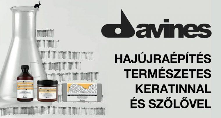 Szőlős-keratinos hajújraépítés a DAVINES-től